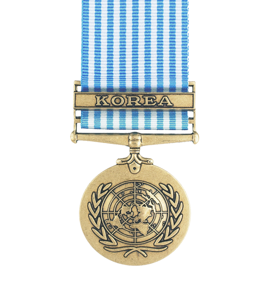 the UN Korea full size replica medal