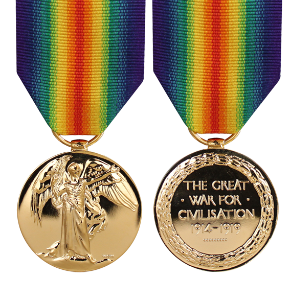 The Victory Medal Full Size with Ribbon