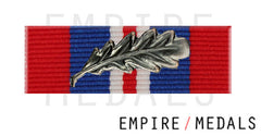 War Medal Ribbon Brooch Bar with MID Oak Leaf