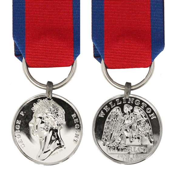 replica waterloo campaign medal