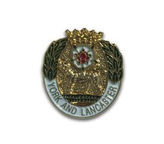 York & Lancaster Regiment Lapel Badge