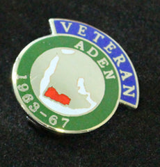 Aden Veteran Lapel Badge