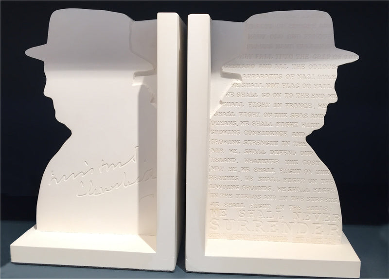 Sir Winston Churchill Plaster Bookends