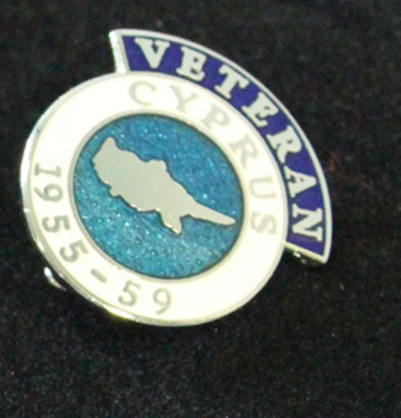 Cyprus Veteran Lapel Badge