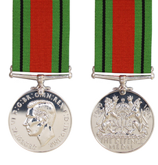 Wordl War 2 Defence Medal and ribbon