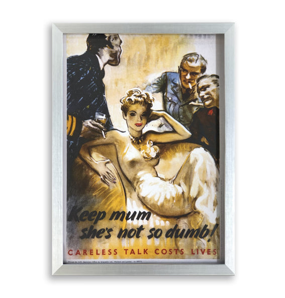 She's Not So Dumb! Framed Poster