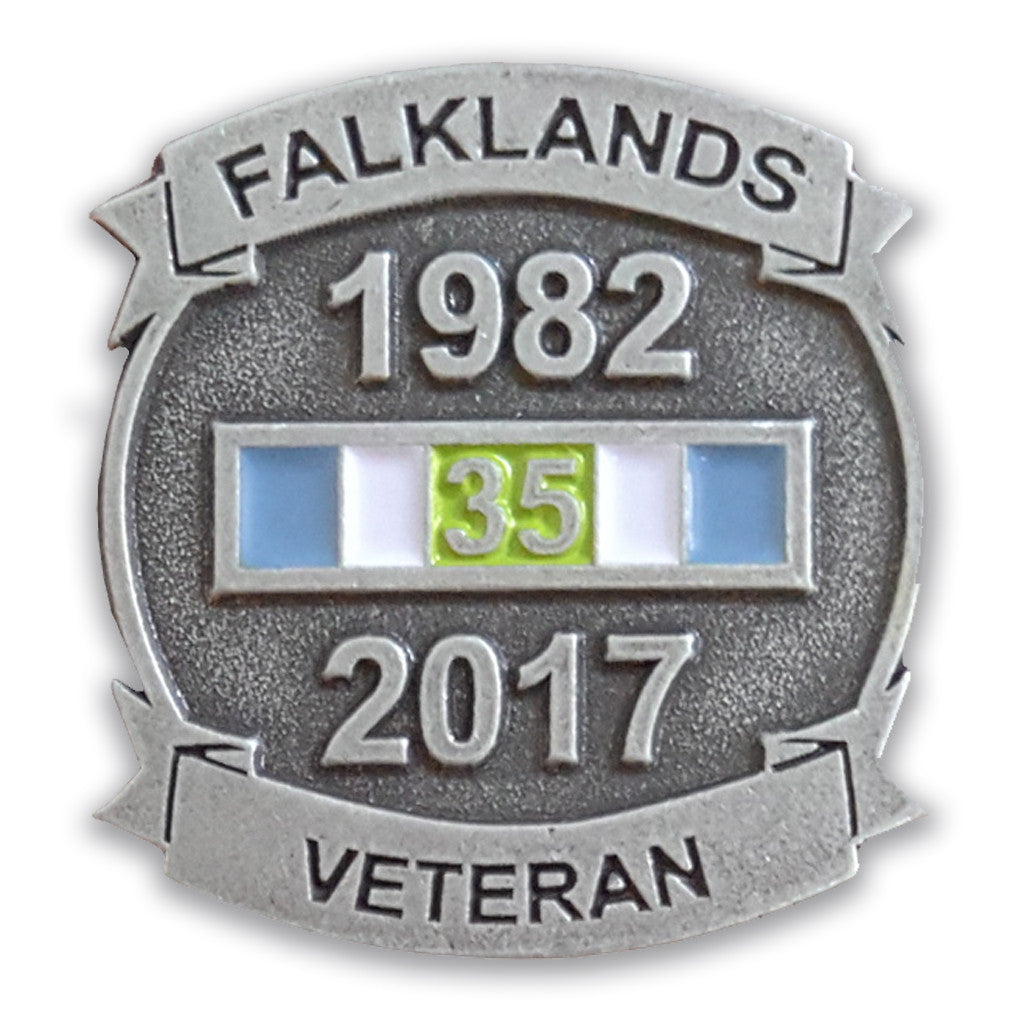 Falkland Islands Veterans Lapel Pin Badge Falklands