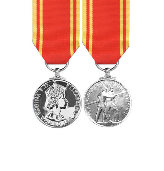 Fire Service Long Service Miniature Medal