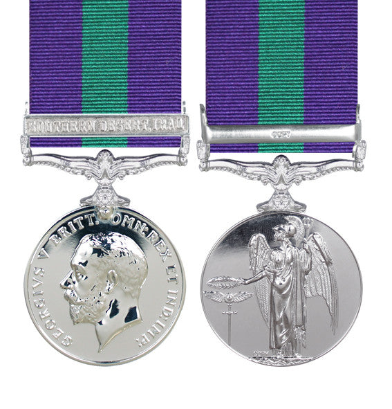 General Service Medal with Southern Desert Iraq clasp
