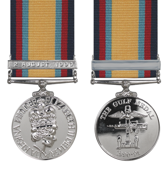 the gulf war medal with a 2nd August bar