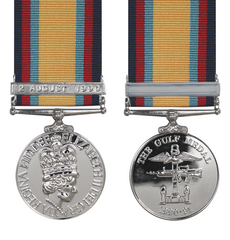 Gulf Medal Full Size With 2nd August Bar