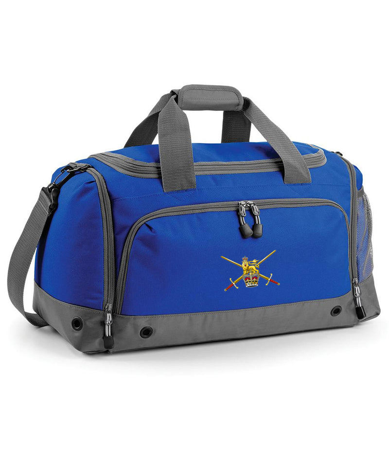 Military Embroidered Holdall - Bright Royal