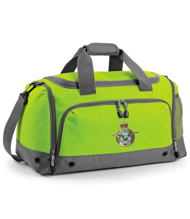 Military Embroidered Holdall - Lime Green