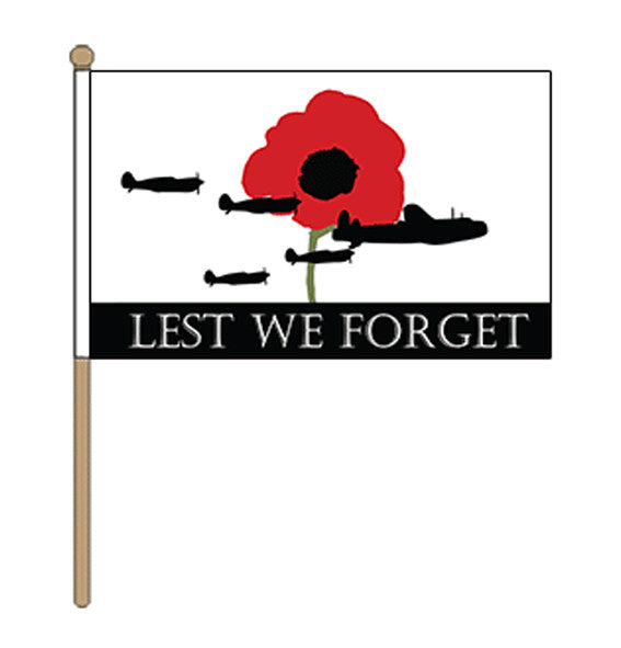 Lest We Forget RAF Hand Flag