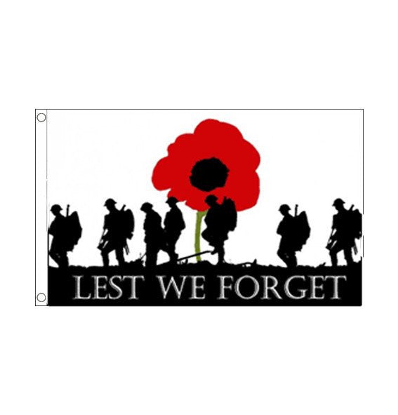 Lest We Forget Army Flag