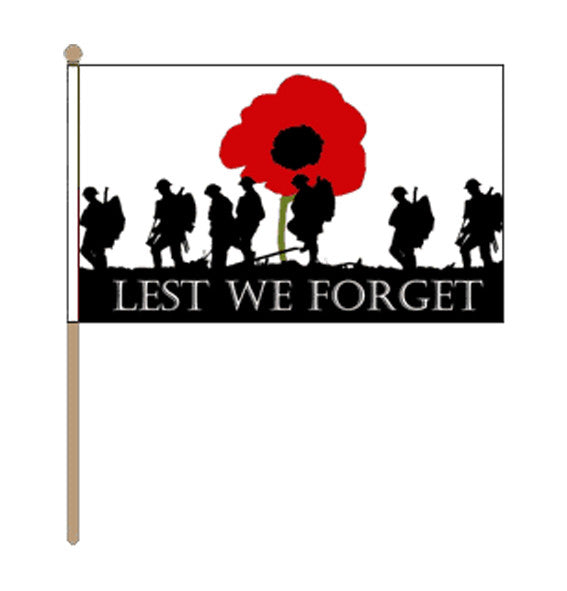 Lest We Forget Army Hand Flag