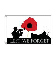 Lest We Forget Navy Flag