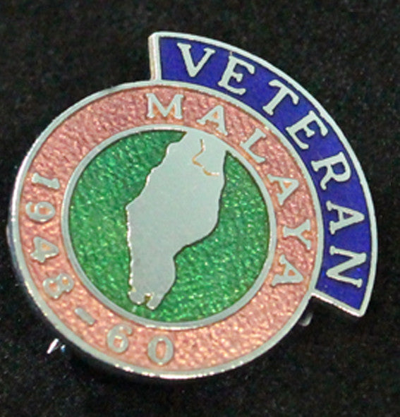 Malaya Veteran Lapel Badge