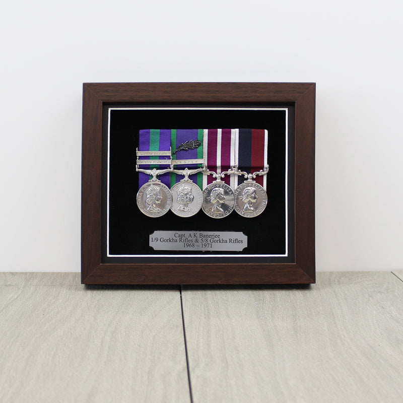Medal Display Case for 3 to 4 Medals