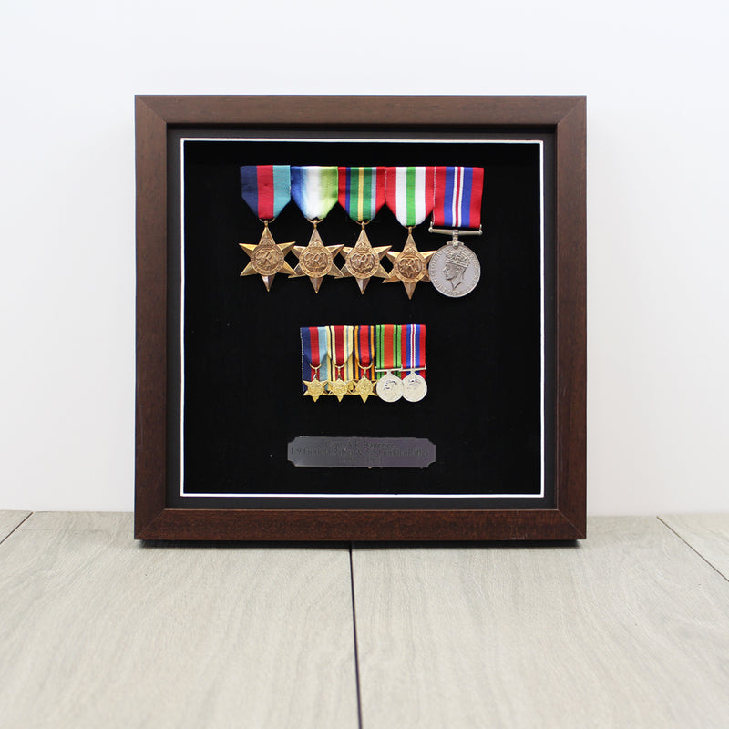 Medal Display Case for Full Size & Miniature Medals