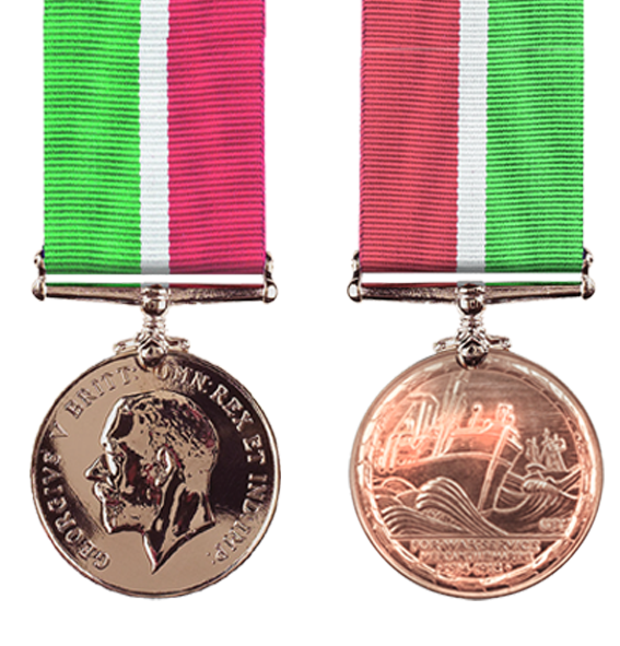 The Mercantile Marine Service War Medal from WW1