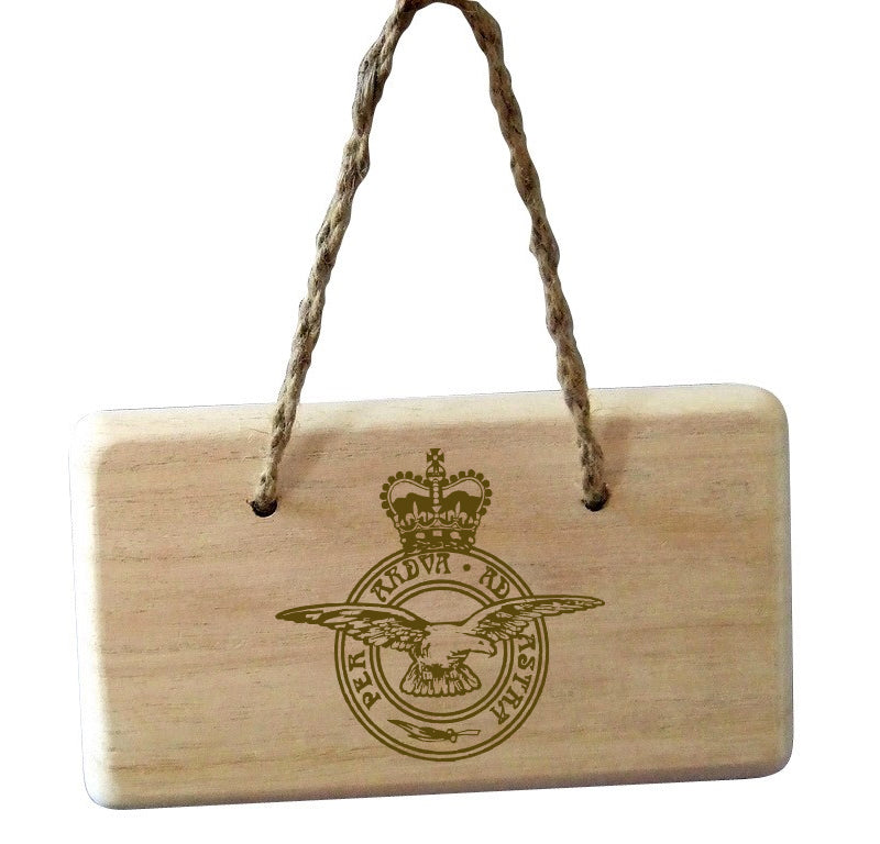 Military Emblem Wooden Plaque