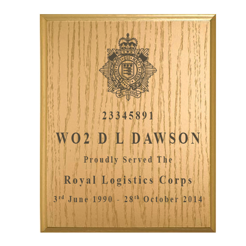 Solid Wood Military Service Plaque