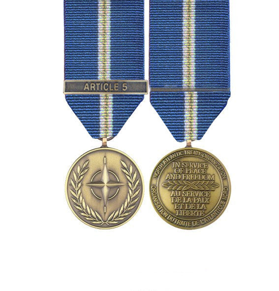 NATO Eagle Assist Miniature Medal