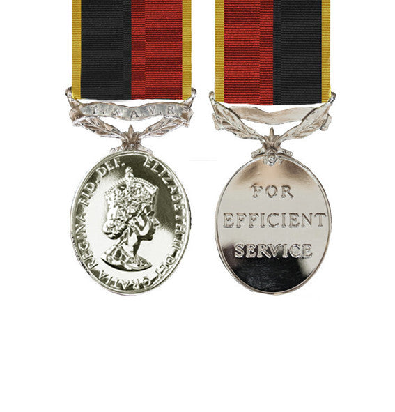 Miniature T&AVR Efficiency Medal EIIR HAC