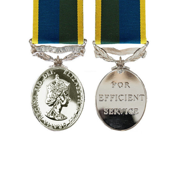 Miniature T&AVR Efficiency Medal EIIR