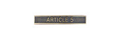 Miniature NATO Article 5 Clasp Only