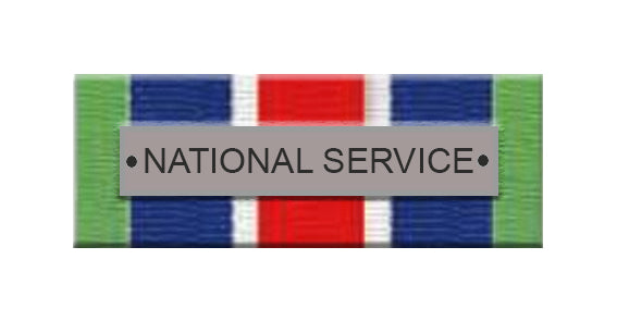 National Service Ribbon Bar