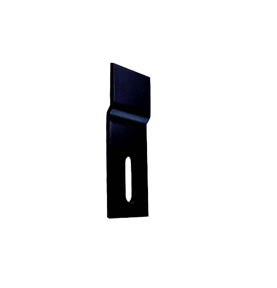Offset Fixing Bracket - 35 x 10mm - Zinc Alloy - Black Finish