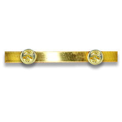 Ribbon Brooch Component - Back medal strip with stud fittings