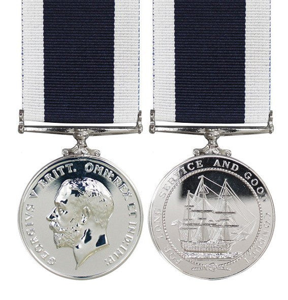Royal Navy Long Service Full Size Medal GV