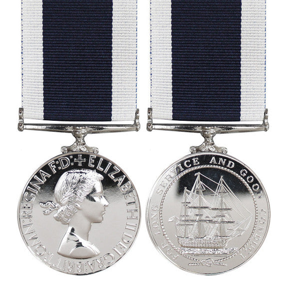 Royal Navy Long Service Full Size Medal EIIR