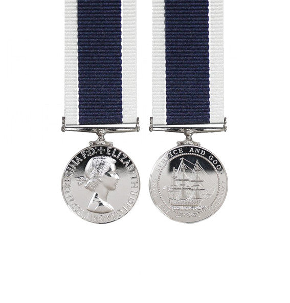 Royal Navy Long Service Miniature Medal EIIR