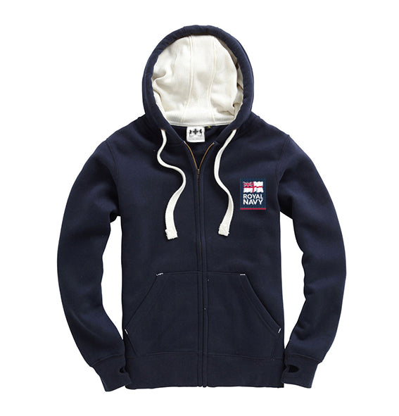 Navy Blue Embroidered Military Emblem Super Hoodie