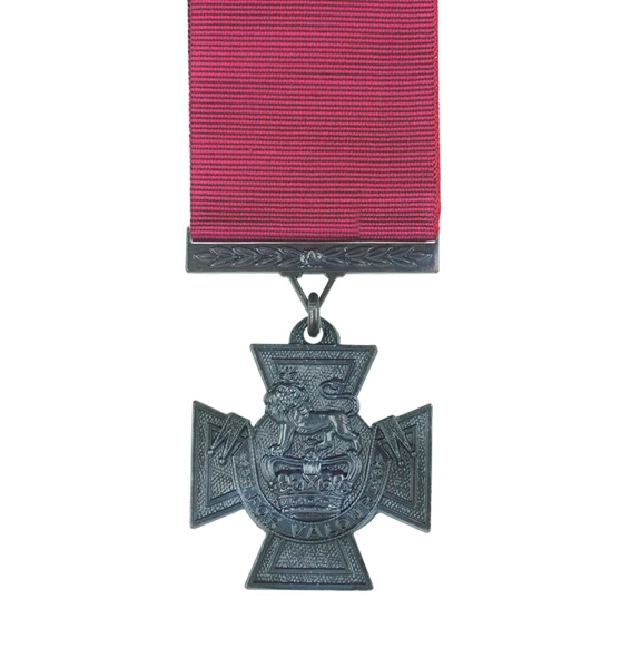The Victoria Cross Replica Medal and ribbon full size