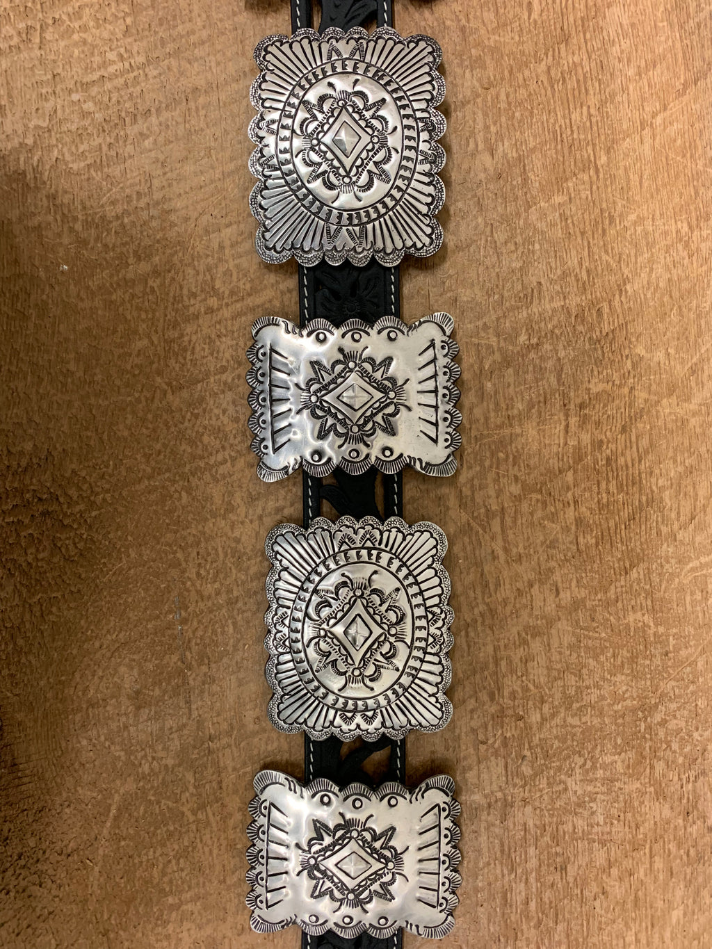 The Fully Engraved India Silver Concho Sets G60012
