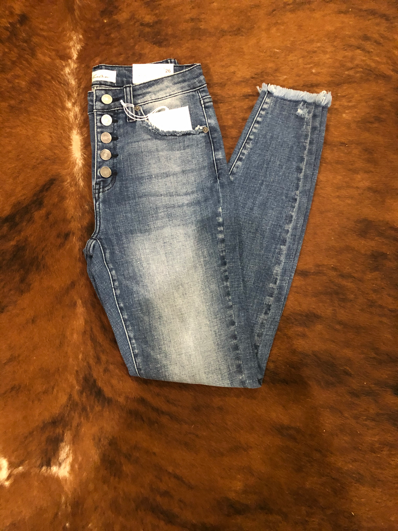 KC7300M- High Rise Super Skinny Jeans