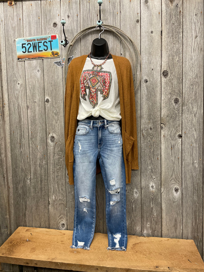 KC9130M Distressed Ankle Skinny Jean