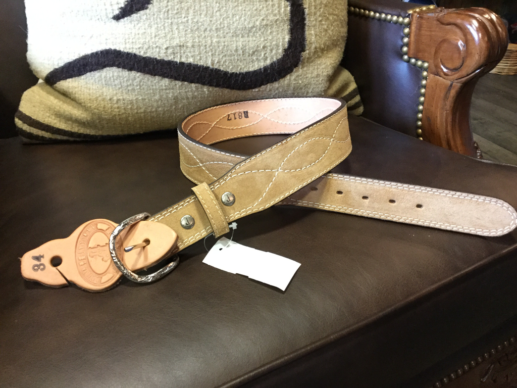 Men's Sueded Leather Belt by Double J Saddlery B817
