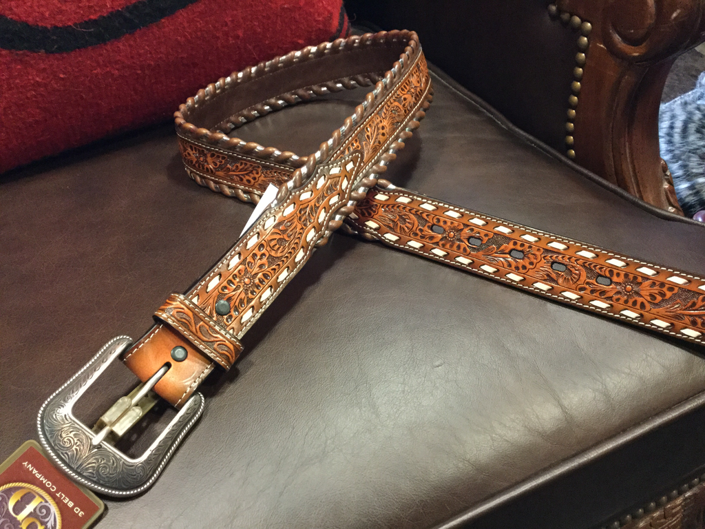 3D Belt Co. Men's Tooled Leather Belt