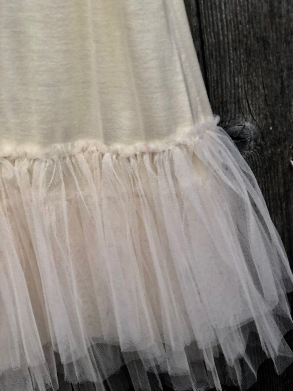 Ashley Girls Slip Dress with Tulle Skirt