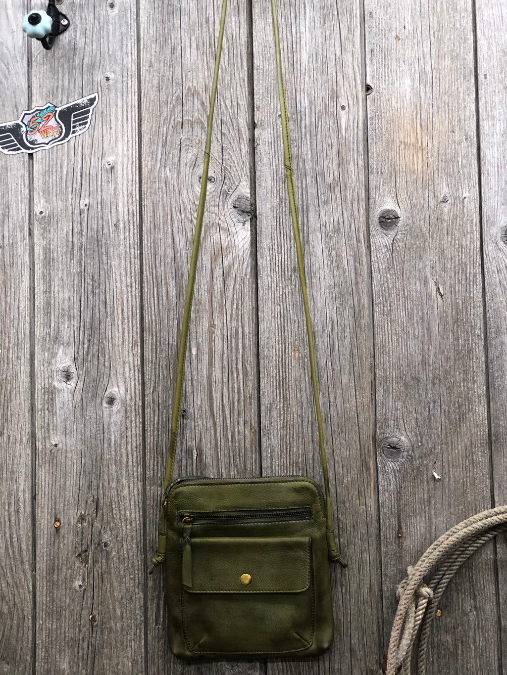 Lia Olive Crossbody Purse