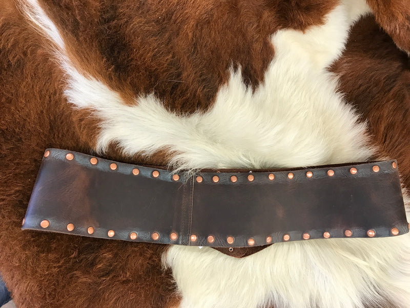 1488 Leatherock Brown with Copper Accents Ladies Belts