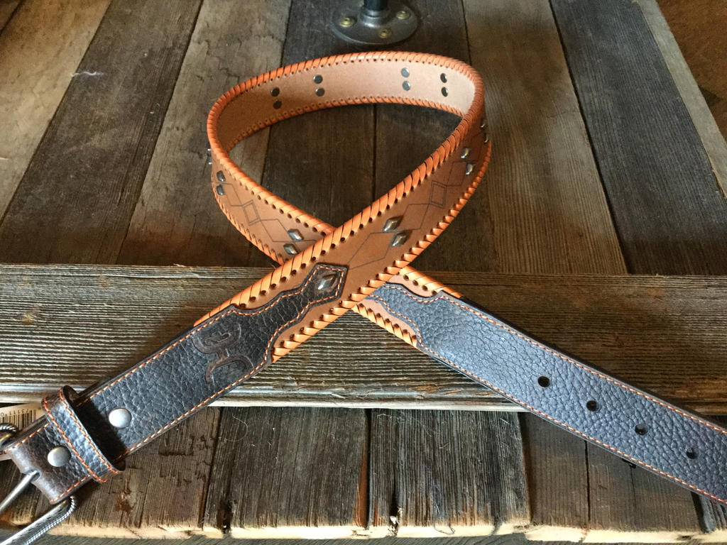 Hooey Men's Belt Orange 1660BE2