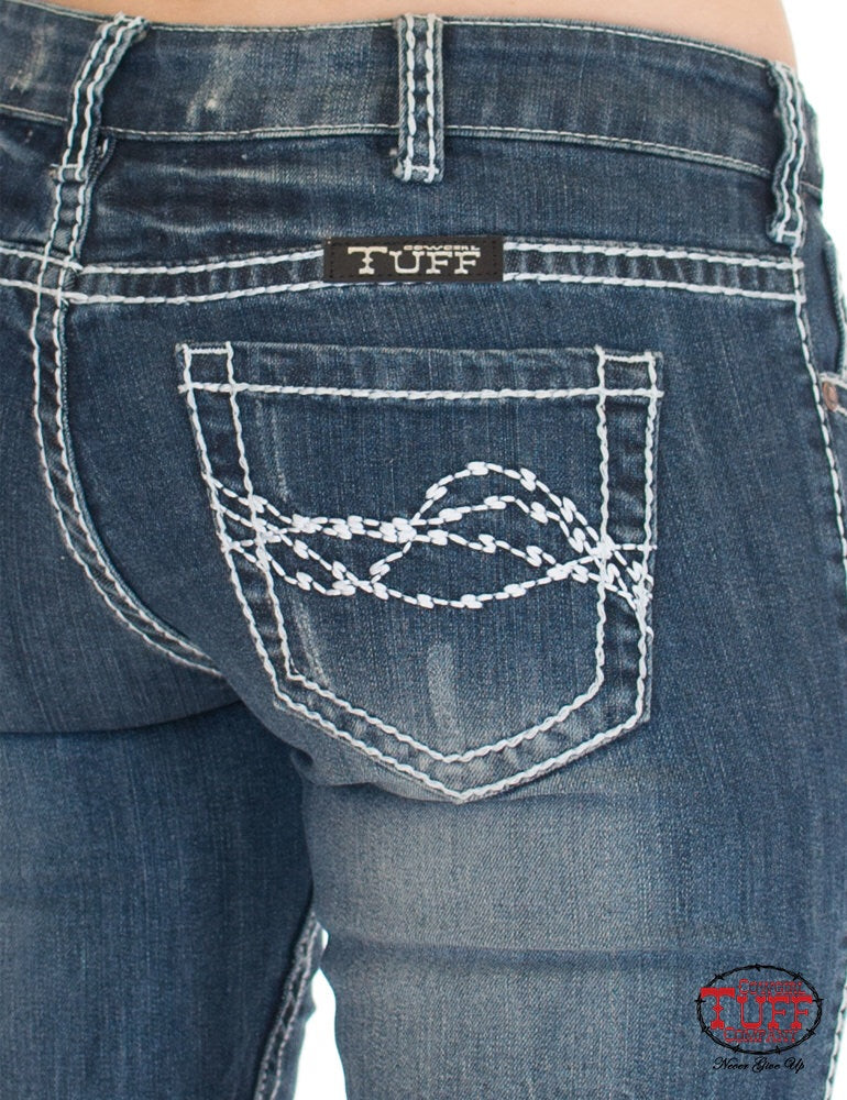Edgy Cowgirl Tuff Ladies Jeans