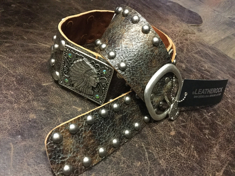 1278 Silver Chief Conchos Ladies Belt